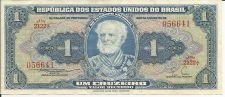 Buy BRAZIL 1 CRUZEIRO 1954-58 Banknote 056641 Naval ACADEMY UNC