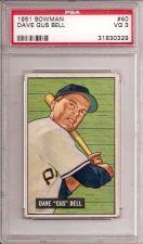Buy 1951 Bowman # 40 Gus Bell Rookie PSA 3