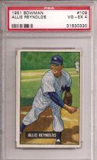 Buy 1951 Bowman # 109 Allie Reynolds PSA 4
