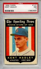 Buy 1959 Topps #127 Rookie Stars Kent Hadley Kansas City Athletics A's PSA NM 7