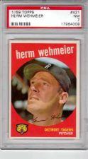 Buy 1959 Topps #421 Herm Wehmeier Detroit Tigers PSA NM 7
