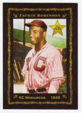 Buy 1945 Jackie Robinson, KC Monarchs rookie, rare Monarch Corona Pastime #1, mint