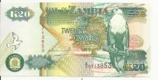 Buy ZAMBIA 20 KWACHA 1992 P36 UNCIRCULATED