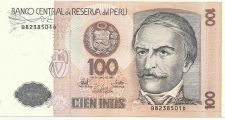Buy 1987 Central Bank of Peru 100 Intis Note B8238501D