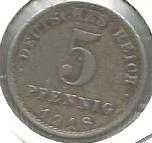 Buy German 5 Pfennig 1918A GERMAN EMPIRE