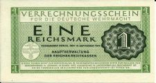 Buy 1944 Germany 1 Reichsmark P-M38 Clearing Note for German Armed Forces WWII Era