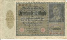 Buy GERMAN REICHSBANK 10000 Mark (19 Jan 1922) GERMANY CURRENCY VAMPIRE NOTE 6497137