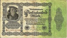 Buy 1922 Germany 50000 Mark P-79 Banknote