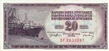 Buy YUGOSLAVIA - 1974 - 20 DINARA - P-85 Note DF 2633287