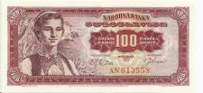 Buy Yugoslavia 100 Dinara - 1963 P-73 AN 013558