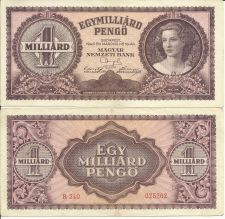Buy 1946 Hungary 1 Milliard #P-125 Note