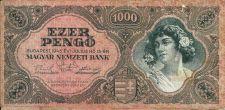 Buy Hungary 1000 Pengo Banknote 1945 P 118B