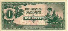 Buy Invasion Currency -Japan 1 Rupee -Burma Invasion -Histornical WWII ERA Currreny!