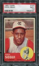 Buy 1963 Topps #157 Diego Segui Kansas City Athletics PSA NM+ 7.5 A's