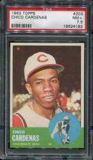 Buy 1963 Topps #203 Chico Cardenas Cincinnati Reds 7.5 NM+ PSA