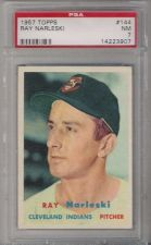 Buy 1957 Topps Ray Narleski #144 PSA 7 NM Cleveland Indians