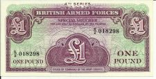 Buy British Armed Forces 1 Pound P-M36 4th Series Banknotes