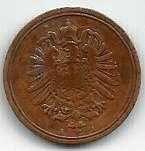 Buy 1888 A Germany 1 Pfennig