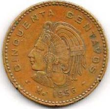 Buy Mexico 50 Centavos 1956 Coin KM#450