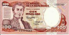 Buy Columbia 100 Pesos Oro 1987 Banknote P-047E