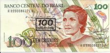 Buy BRAZIL 100 Cruzado Novos on 100 Cruzados 1992 UNC Note 8990086271A
