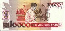 Buy BRAZIL 10 Cruzado Novo on 10000 Cruzados 1989 UNC P-218
