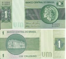 Buy Brazil 1 Cruzeiro Banknote Woman with Liberty Cap at Right