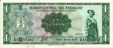 Buy Paraguay - 1 Guarani 1952 Banknote A16157462 = Printed1952-Withdrawn Circulation