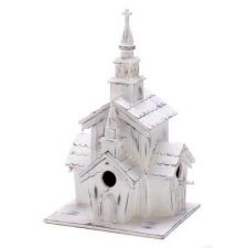 Buy LITTLE WHITE CHAPEL BIRDHOUSE