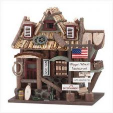 Buy Wagon Wheel Restaurant Birdhouse