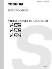 Buy Toshiba VE29 VE39 VE59 120-200229 Service Manual by download #160525