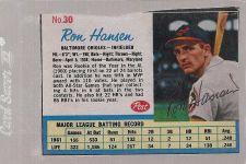 Buy 1962 Post RON HANSEN autographed card