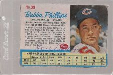 Buy 1962 Post BUBBA PHILLIPS autographed card