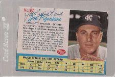 Buy 1962 Post JOE PIGNATANO autographed card