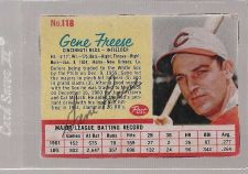 Buy 1962 Post GENE FREESE autographed card