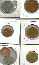 Buy COIN LOT 4 - coins from England Germany Australia France Singapore Arab Emigrate