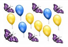 Buy Balloons and Butterflies Blank Card
