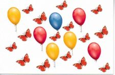 Buy Balloons and Butterflies Blank Card number two
