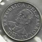 Buy PARAGUAY 10 GUARANTES 1980