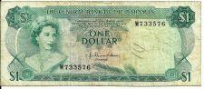 Buy 1974 Bahamas Monetary Authority 1 Dollar Note