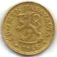 Buy FINLAND ANTIQUE 20 PENNIA 1966 COIN Rampant Lion Shield Scandinavian Coin