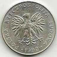 Buy POLAND 20 Zlotych 1990 Coin