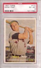 Buy 1957 Topps #177 Eddie Yost PSA 6