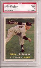 Buy 1957 Topps #216 Marv Grissom PSA 7