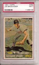 Buy 1957 Topps #382 Jim Brideweser PSA 7