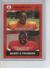 Buy BARRY SANDERS & THURMAN THOMAS 1991 COLLEGIATE COLLECTION #78