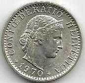 Buy Switzerland 20 Rappen 1970