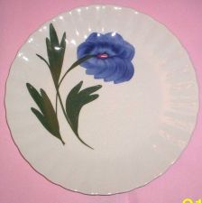 Buy Blue Ridge Southern Pottery- Blue Flower Luncheon Plate