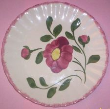 Buy Blue Ridge Southern Pottery-- Red Nocturne Luncheon Plate