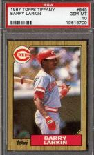 Buy 1987 Topps TIffany RC Rookie #648 Barry Larkin PSA 10 HOF